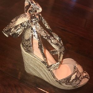 e1a97e29f7f Shoes -  PRICE IS FIRM  Snake skin espadrilles wedge heels